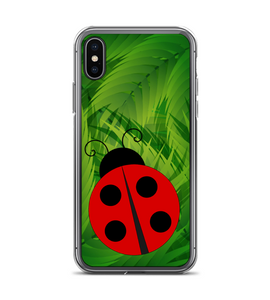 Lady Bug Leaf Print Pattern Phone Case