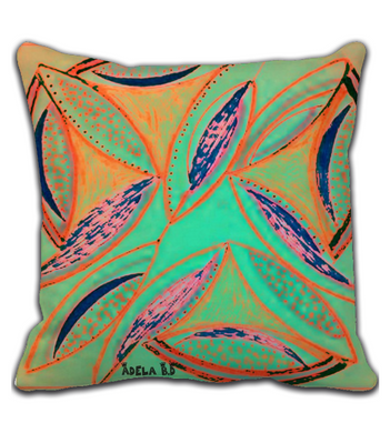 Throw Pillow Ostras