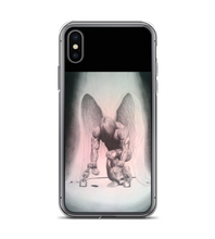 Angel chains prision prisioner pencil traditional artwork light dark judgement guilty Phone Case