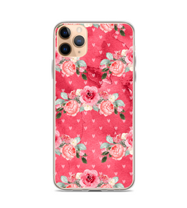 Valentines Day Love Heart Roses Red Gift Print Phone Case