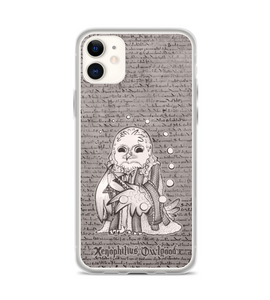 Xenophilius Owlgood - owl with wand and magic bubbles Phone Case
