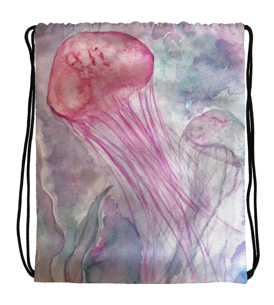 Drawstring Gym Bag jellyfish cute