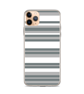 Geometric Print White and Gray Stripes Phone Case