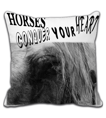Throw Pillow Look Horse farm equestrian race drawing realistic pencil graphite arabian art animal