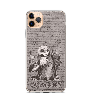 Lord Owldemort - magic OWL villain casting spell Phone Case