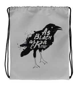 Drawstring Gym Bag Crow