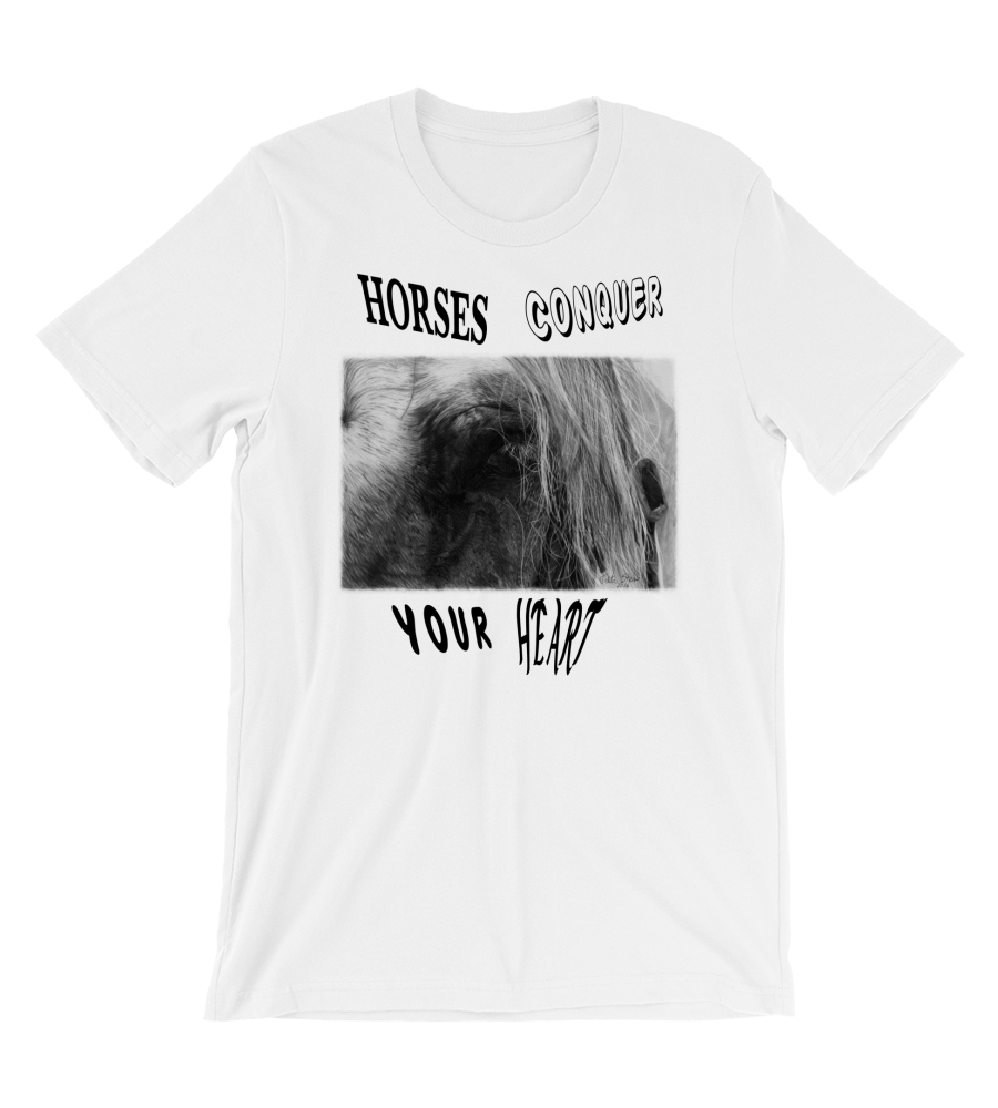 T-Shirt Look Horse farm equestrian race drawing realistic pencil graphite arabian art animal wild