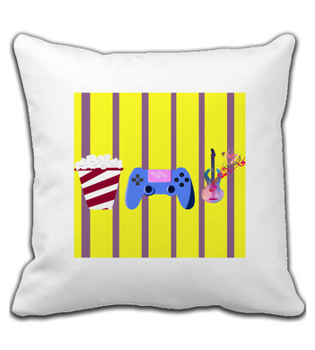 Throw Pillow CINE,GAMES,MUSIC