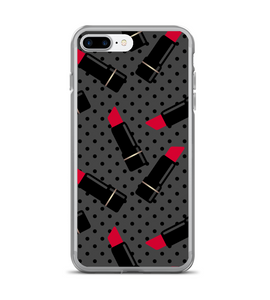 Lipstick Polka Dot Makeup Pattern Phone Case