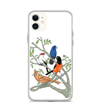 birds conjunt nature art and plants Phone Case