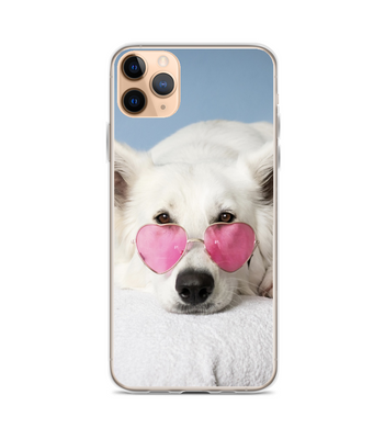 Dog with glasses Phone Case