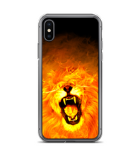 Lion flames fire light king animal wild holy rock Phone Case