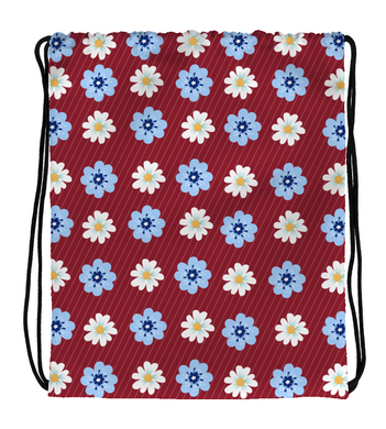 Drawstring Gym Bag Flower art prints