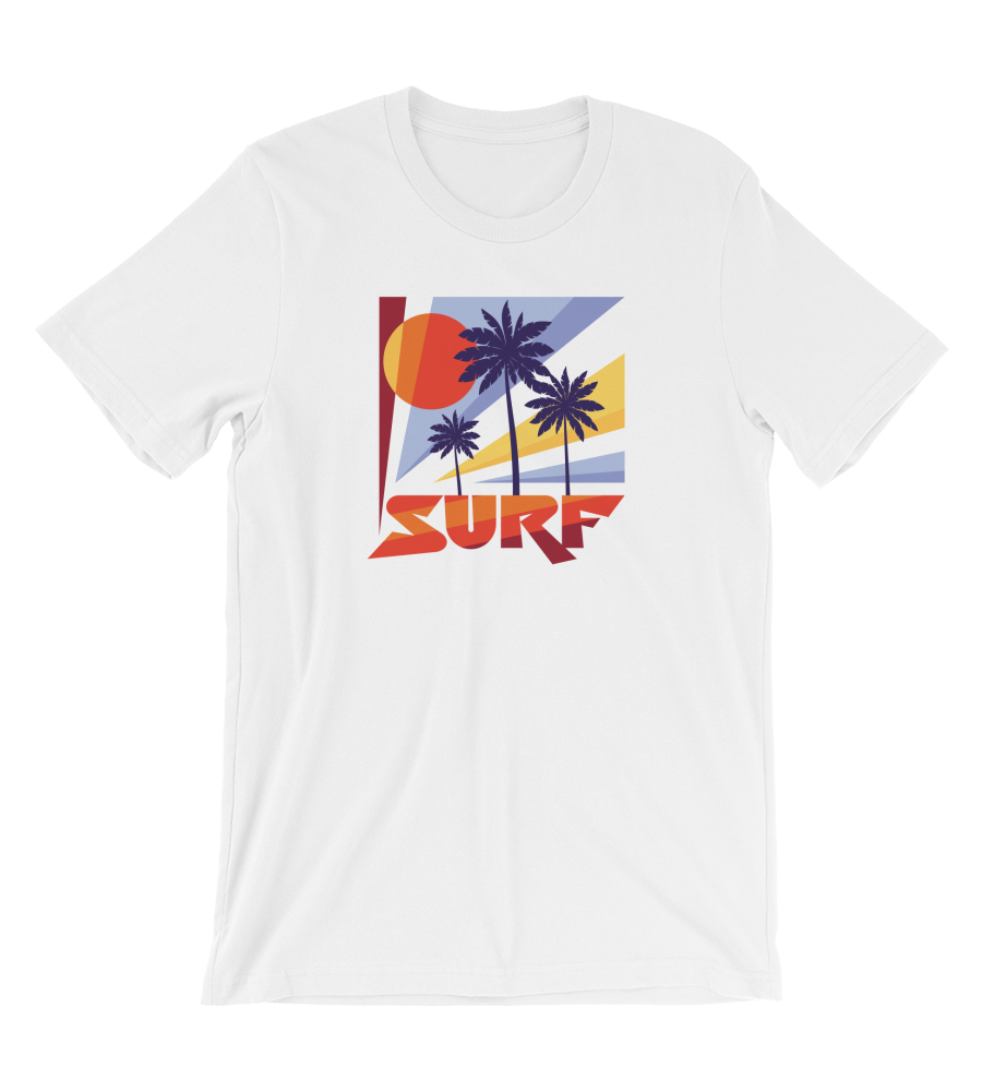 T-Shirt Surf - Palm Trees & Sun