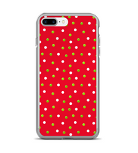 Christmas Red Green White Polka Dots Phone Case
