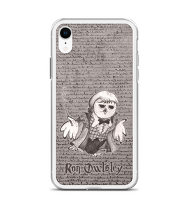 Ron Owlsley - magic OWL in robe de bal with wand Phone Case