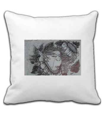 Throw Pillow smoking gnome