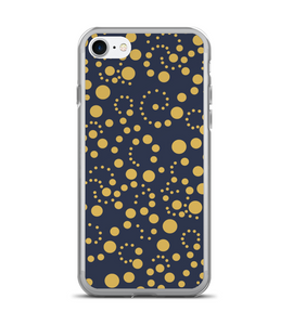 Polka Dot Print Swirl Pattern Phone Case