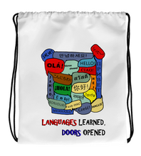 Drawstring Gym Bag Languages Learned, Doors Opened