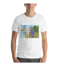 T-Shirt manga comic cover page rpg illustration drawing color colored fanart warrior boy girl