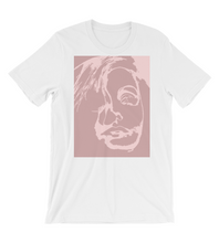 T-Shirt Greta Garbo in pastel pink shadows