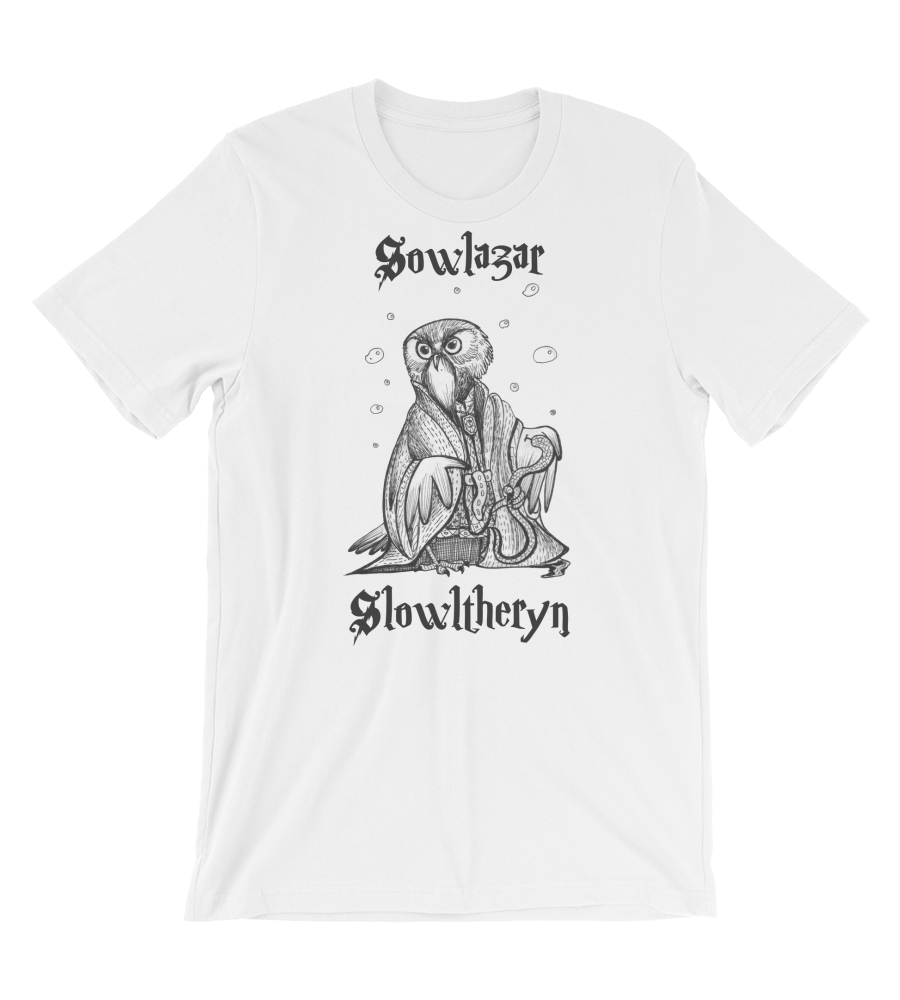 T-Shirt Sowlazar Slowltheryn OWL holding snake and wearing medallion