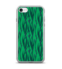 Floral Blue IRIS Print Pattern - Fleur-de-lis Flower - Saturated Color Phone Case