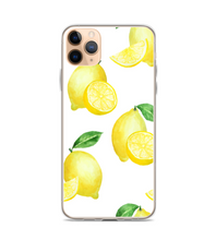 Lemon Leaves Print Pattern Phone Case