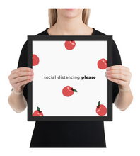 Framed Poster Social Distancing Please 1