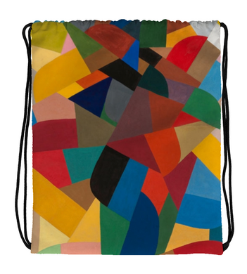 Drawstring Gym Bag Abstract Art