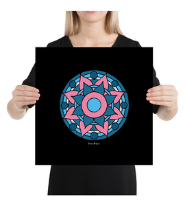 Canvas Mandala. Art made by hand and finished digitally.