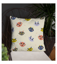 Throw Pillow Cute Kitty Pattern