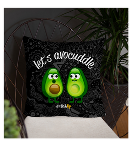 Throw Pillow Lets Avocuddle avocado style of cuddle for couples in love valentine Artishup