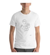 T-Shirt manga pg comic destiny page cover illustration drawing draw black white monochromatic face