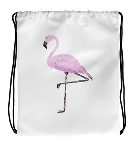Drawstring Gym Bag Glass_Flamingo