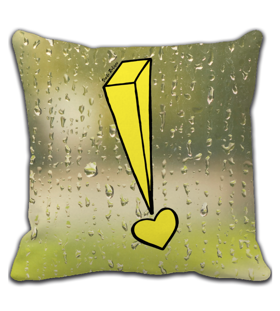 Throw Pillow Expressing Emotions - Art made by hand and digitally finalized.