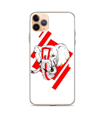 Red elephant art Phone Case