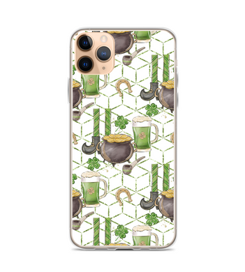 St Patricks Day Clover Shamrock Green Irish Cheers Holiday Phone Case