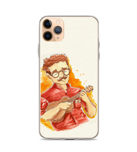Playing Ukulele Watercolor Her Phone Case
