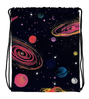 Drawstring Gym Bag Planets
