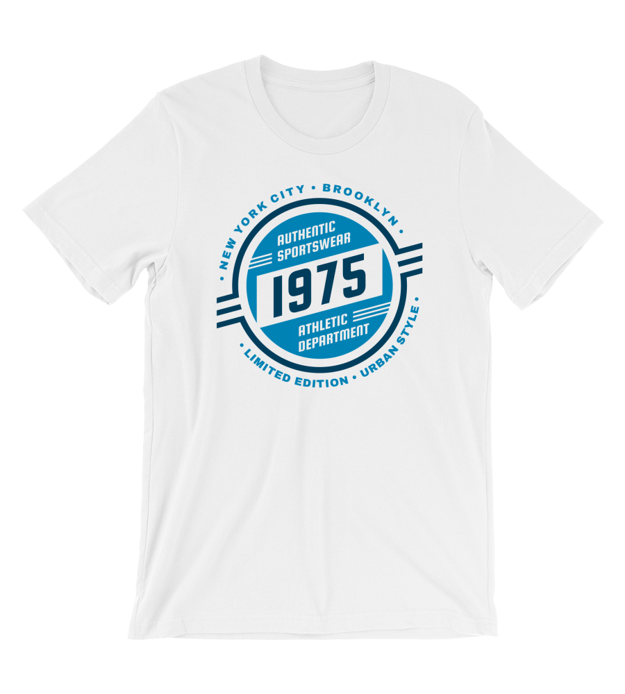 T-Shirt Athletic Department - Authentic Sportswear - 1975 Retro Style - Brooklyn - New York City