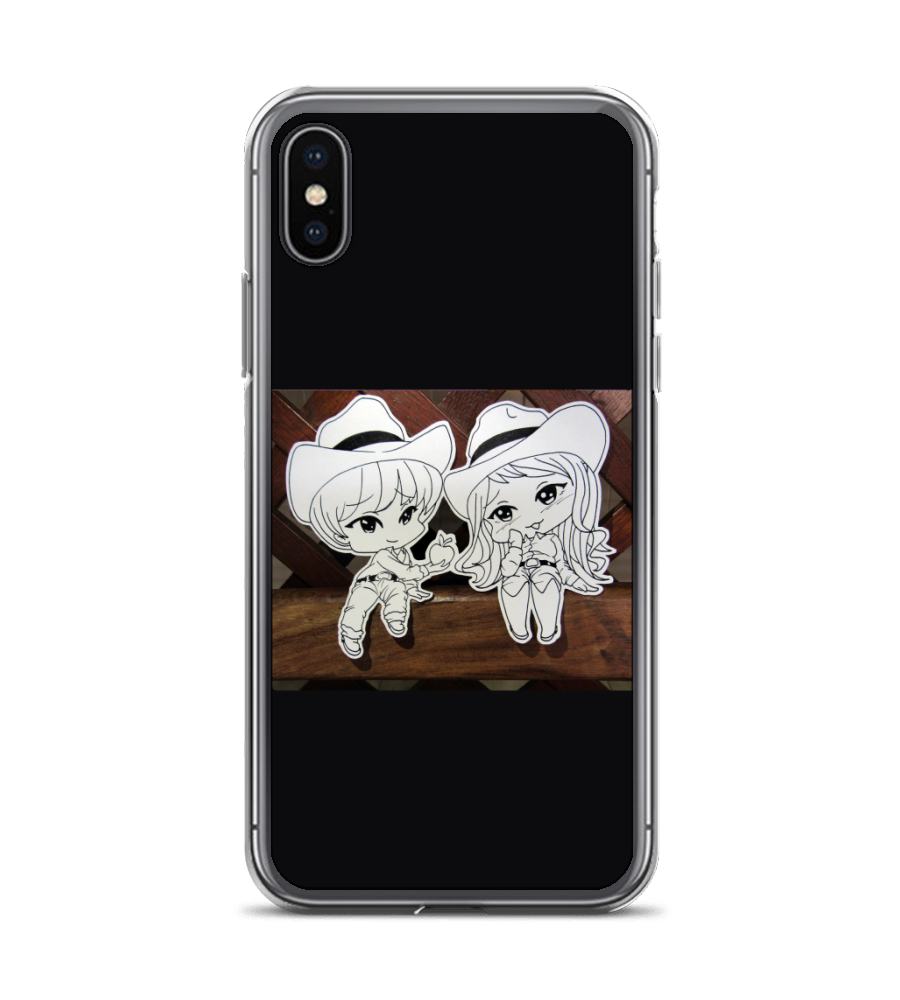 Chibi peons generosity apple peon hat wood love affection boy girl drawing anime Phone Case