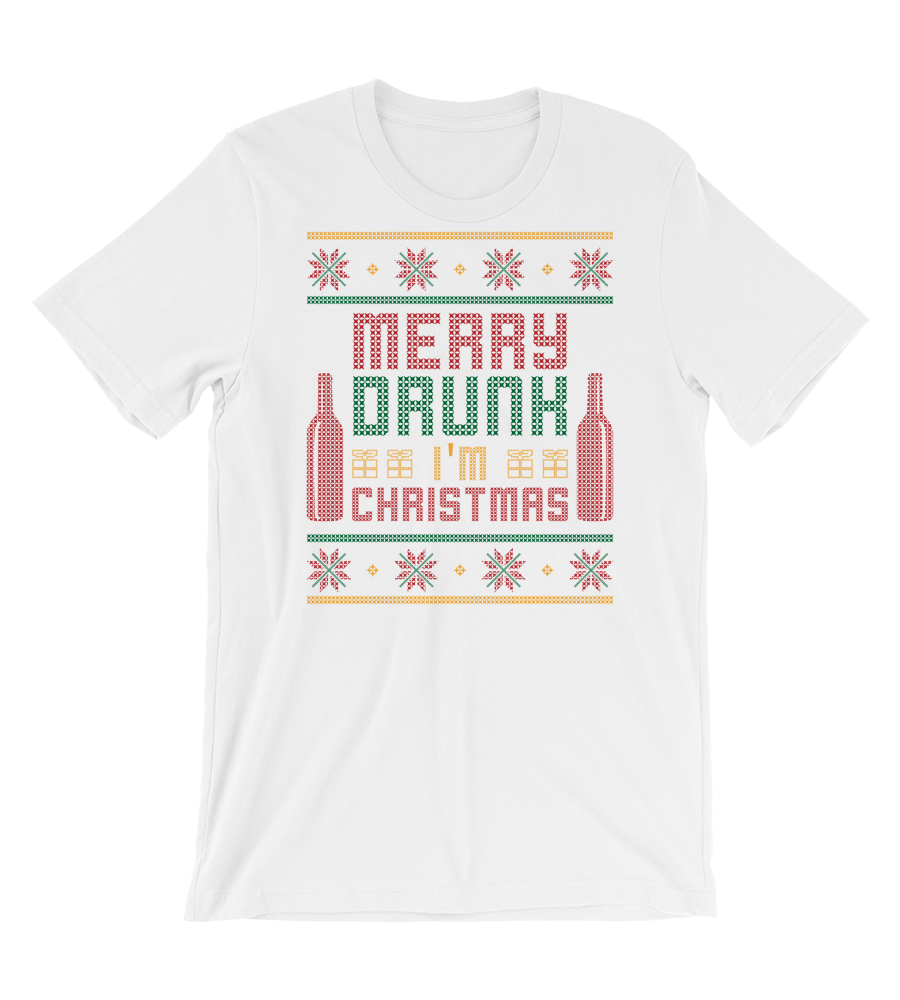 T-Shirt merry drunk im christmas sweater