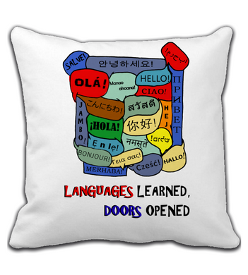 Throw Pillow Languages Learned, Doors Opened