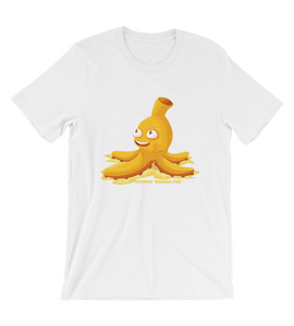 T-Shirt Octopus Banana peel. Fun illustration which cheers you up and makes you happy.