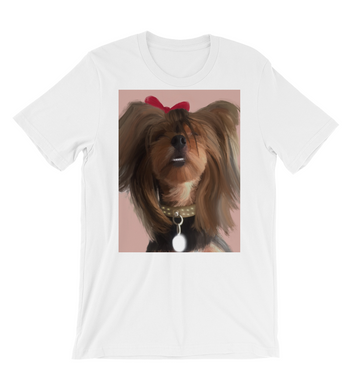 T-Shirt Cute dog smiling painting - yorkie -