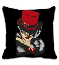 Throw Pillow Red Topper