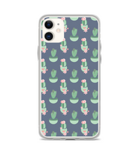 Pink Cactus Heart Print Phone Case