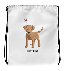 Drawstring Gym Bag Dog