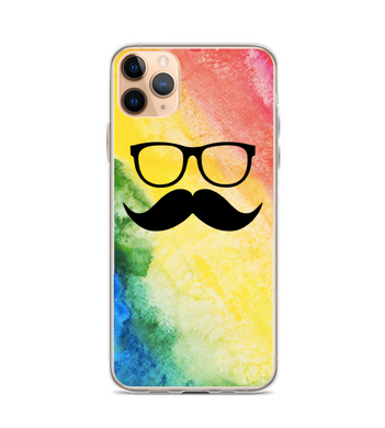 Rainbow Mustache Glasses Print Phone Case